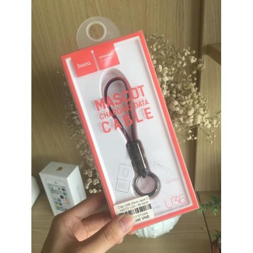 Cáp sạc USB hoco U36 25cm- type C